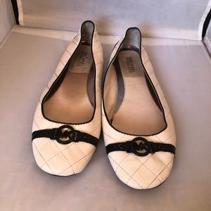 Michael Kors quilted leather flats 10